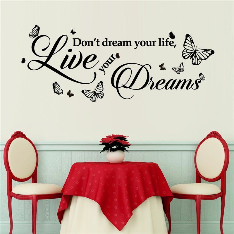 Image of   Wall sticker - Drøm Quote
