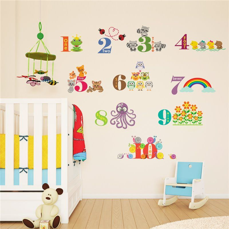 Image of   Wall sticker - Dyr Nummerering II