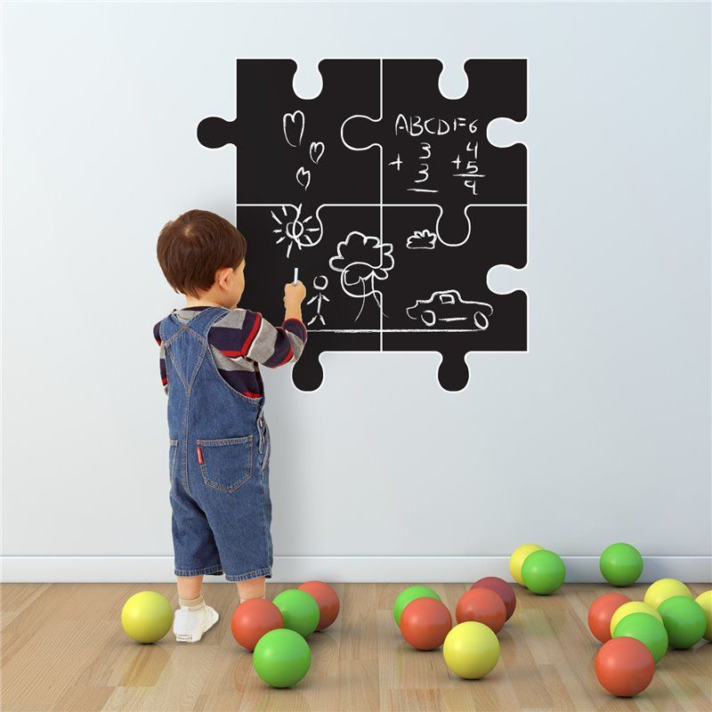 Image of   Wall sticker - chalkboard Puzzle