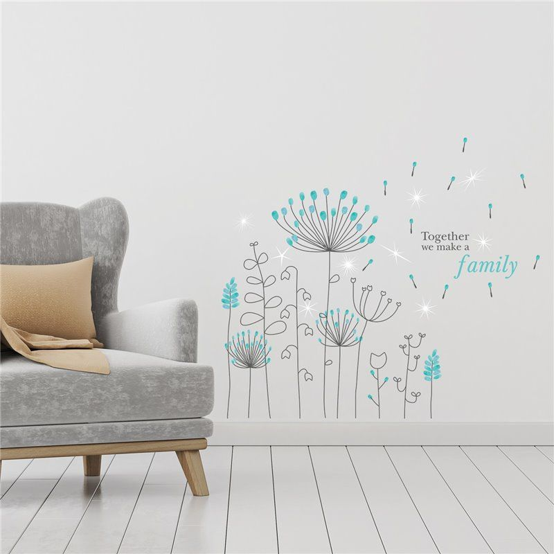 Image of   Wall sticker - Crystal Blue - Mælkebøtte