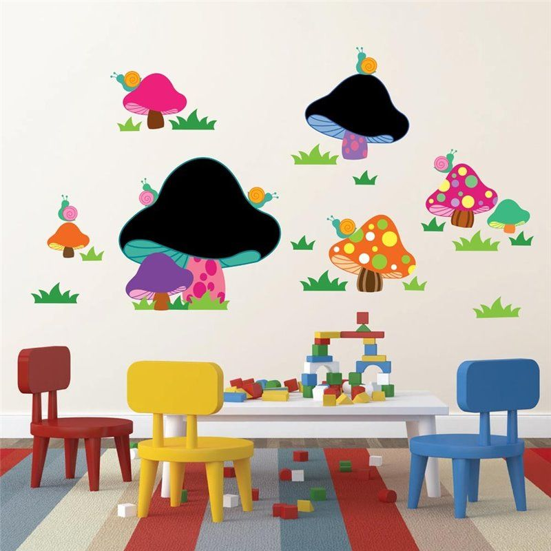 Image of   Wall sticker - Blackboard - Mushroom