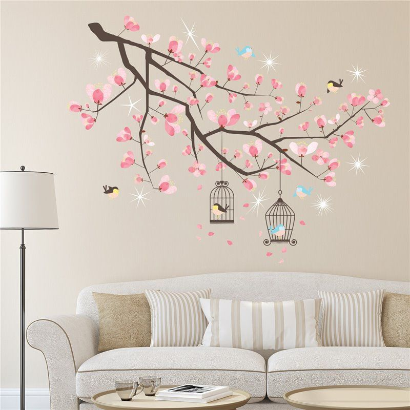 Image of   Wall sticker - Crystal Cherry Blossom Tree