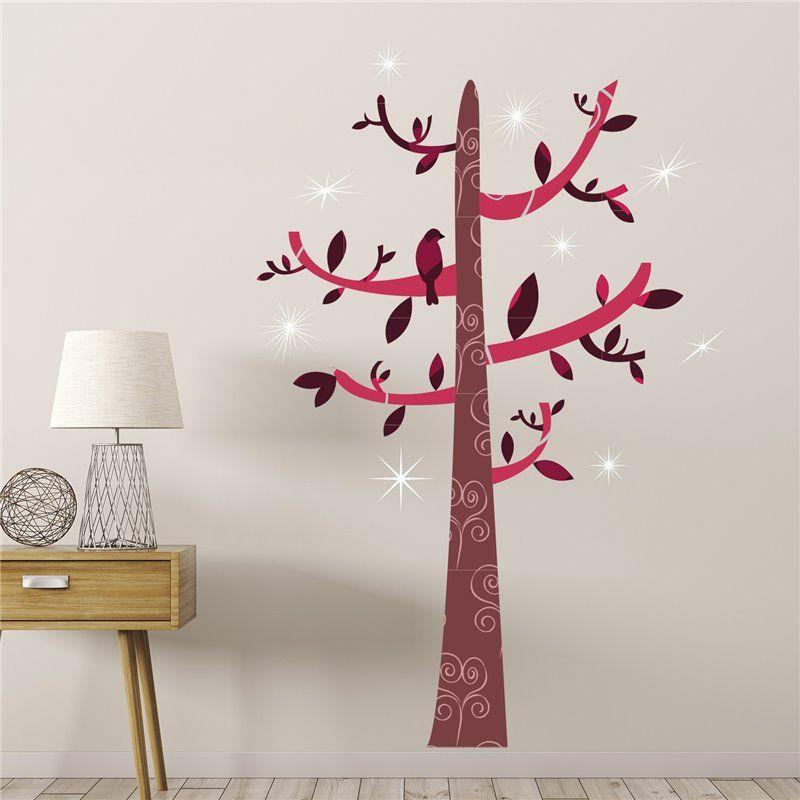 Walplus Wall sticker - crystal tree kroge fra babygear.dk