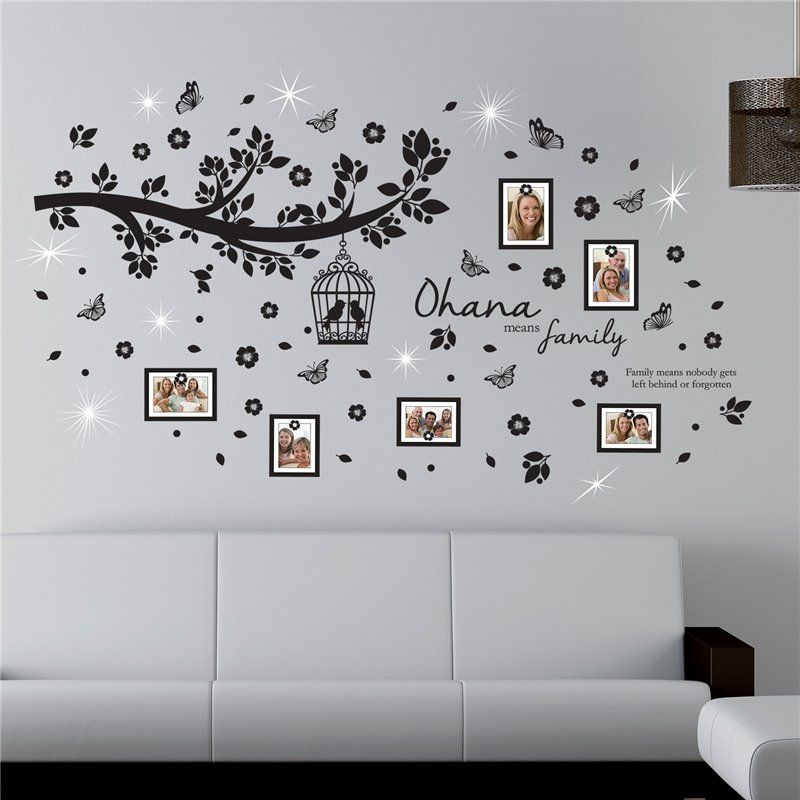 Image of   Wall sticker - Crystal Ohana stamtræ - Fotorammer