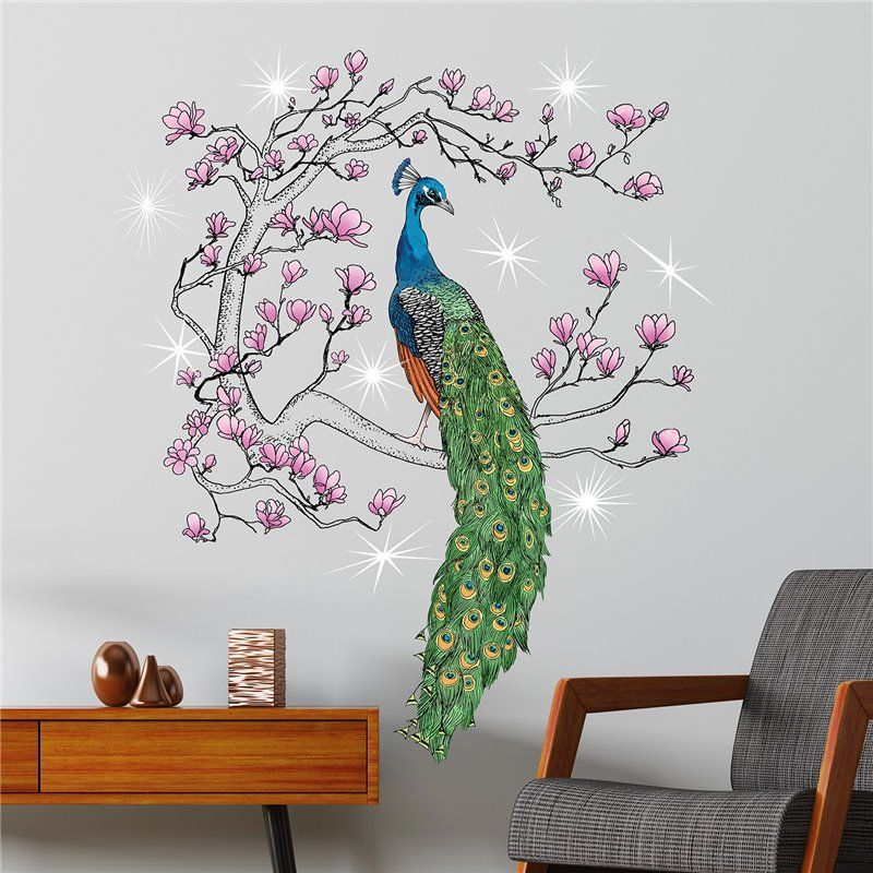 Image of   Wall sticker - Crystal Peacock