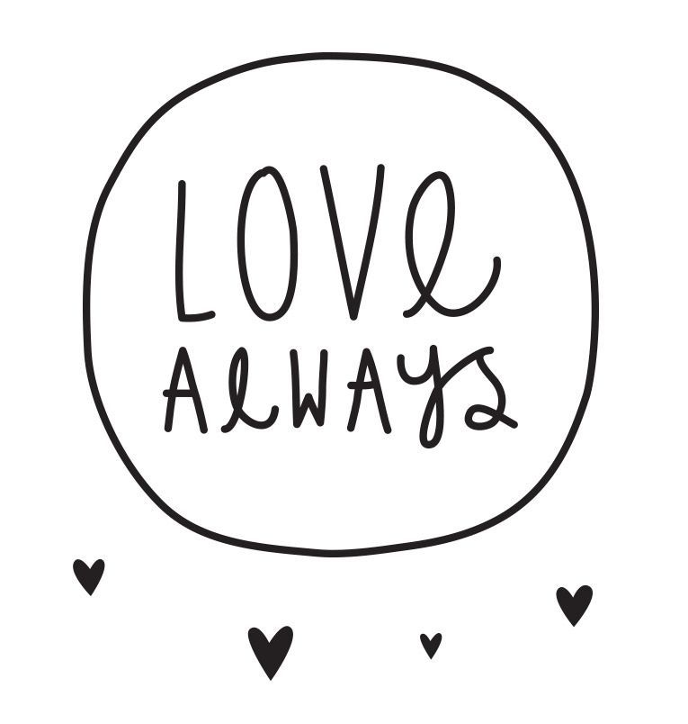 Image of   Wall sticker fra A Little Lovely Company - Love always