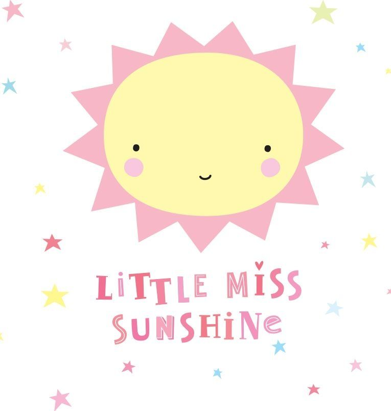Image of   Wall sticker fra A Little Lovely Company - Little Miss Sunshine