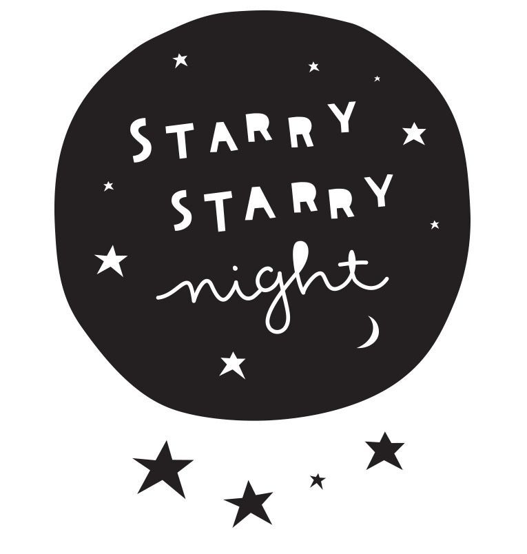 Image of   Wall sticker fra A Little Lovely Company - Starry night