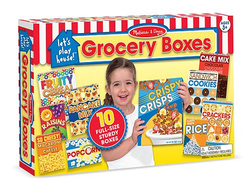 Legemad fra Melissa & Doug - Full-size Grocery Boxes