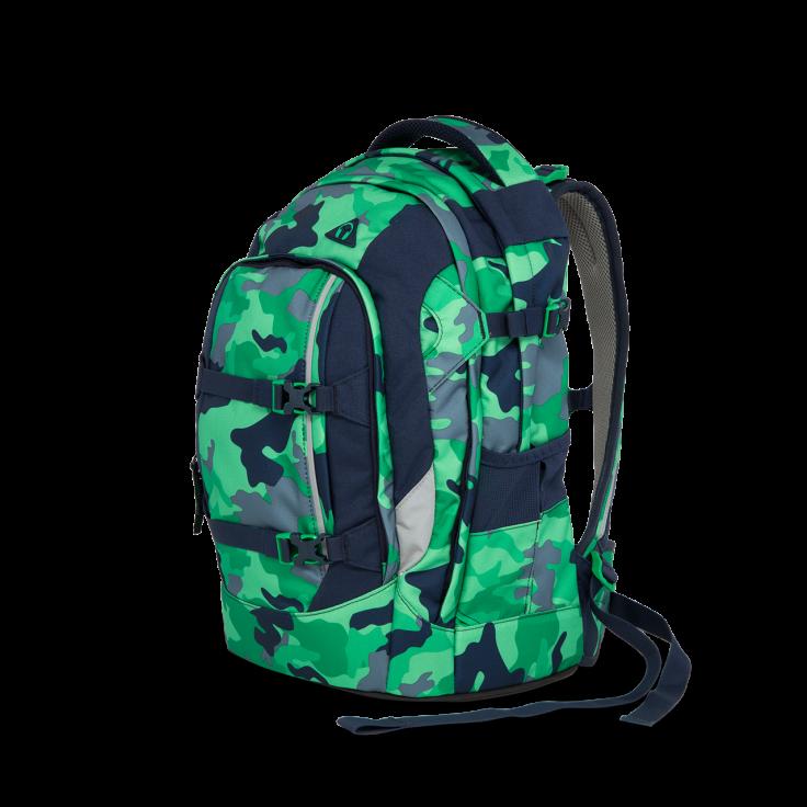 Satch Skoletaske rygsæk - satch pack - green camou (30l) på babygear.dk